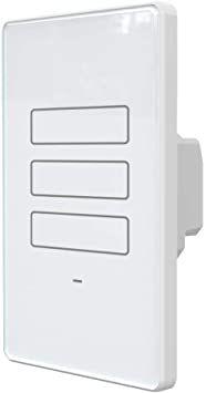 Interruptor Wifi 3 Botões Touch -Branco - Alexia / google - AGL
