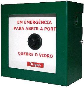 Caixa quebra vidro emergência abertura de porta - NA - Drigon