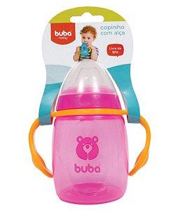 Copo de Treinamento Rosa com Alça Buba Baby