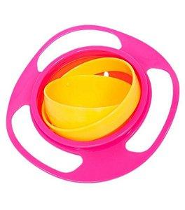 Prato Mágico Giro Bowl Rosa - Buba Baby