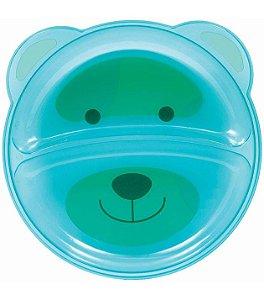 Prato Ursinho com Divisórias Azul - Buba Baby