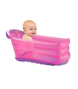 Banheira Inflável Bath Buddy Rosa - Multikids Baby