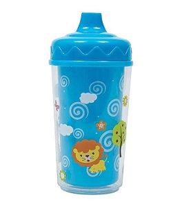 Copinho Fun Azul Parede Dupla 300 ml - Buba Baby