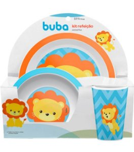 KIT REFEIÇÃO ANIMAL FUN LEÃO - BUBA BABY