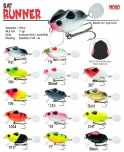Isca Artificial OCL Rat Runner 4,6cm 11g