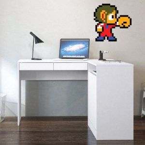 Alex Kidd in Miracle World: Punch - Adesivo Decorativo 40x40 cm