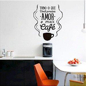 Amor e Café - tamanho 58 x 70 cm