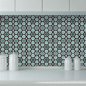 Azulejos Geométrico - Verde - 16 peças com 20x20 cm cada