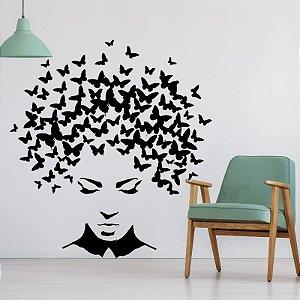 Butterfly Woman - Adesivo Decorativo 80x73 cm