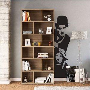 Charles Chaplin - Adesivo Decorativo 30 x 120 cm