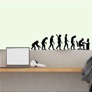Evolução do Homem - Adesivo Decorativo 65 x 30 cm