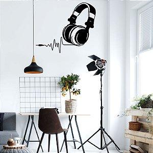 Fone de Ouvido - Adesivo Decorativo 90 X 75cm