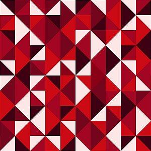 Geométrico Vermelho - Papel de Parede /