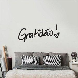 Gratidão! - Adesivo Decorativo 115 x 47cm /