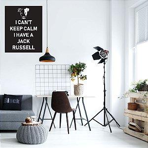 Keep Calm Jack Russell - Adesivo Decorativo 48 x 60 cm