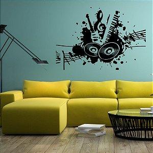 Música - Adesivo Decorativo 70 x 50 cm