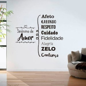 Sinônimo de Amor - Adesivo Decorativo 97 x 90 cm