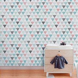 Triângulos Coloridos - Papel de Parede Infantil