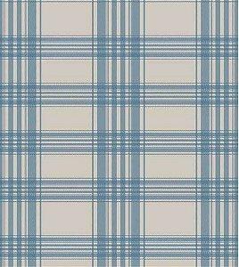 Xadrez Azul - Papel de Parede /