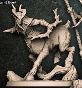 "Cervitauro  ""A"" - Guarda-Matas Arverianos - Miniatura Artisan Guild"