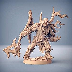 THROGAR, QUEBRADOR DE CORRENTES - Orcs Bárbaros - Miniatura Artisan Guild