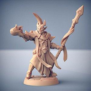 """Inquisidor """"F"""" - Inquisidores Elfos Cinzentos - Miniatura Artisan Guild"""