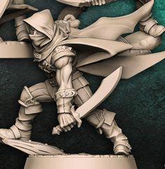 """Adepto """"A"""" com capuz - Guilda dos Ladrões - Miniatura Artisan Guild"""