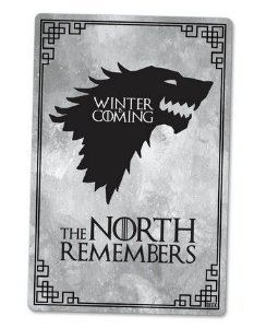 PLACA DECORATIVA - THE NORTH - 24x16 - Game of Thrones