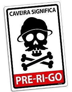PLACA DECORATIVA - PRE-RI-GO - 24x16 - Chaves