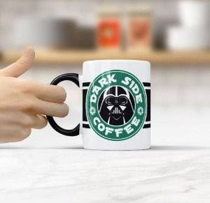 CANECA CERÂMICA - DARK SIDE COFFEE - STAR WARS