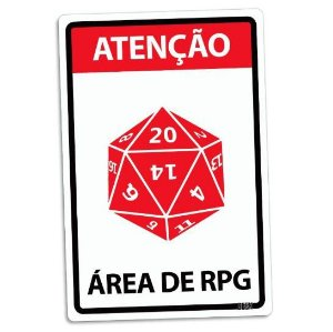 PLACA DECORATIVA - ÁREA DE RPG - 24x16