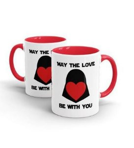 CANECA CERÂMICA - MAY THE LOVE - STAR WARS