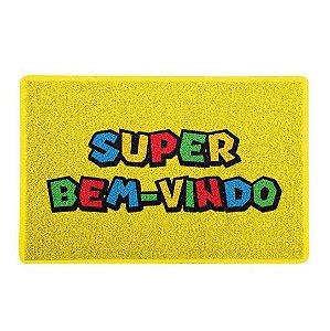 CAPACHO - SUPER BEM VINDO - 60x40 - Super Mário
