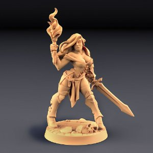 ELENA (Traje de aventura) - Guilda dos Guerreiros - Miniatura Artisan Guild