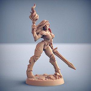 ELENA (Trajes Sumários) (Pin Up)- Guilda dos Guerreiros - Miniatura Artisan Guild
