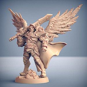 SIGFRIDO DRAGONBANE (Anjo Guerreiro) - Guilda dos Guerreiros - Miniatura Artisan Guild