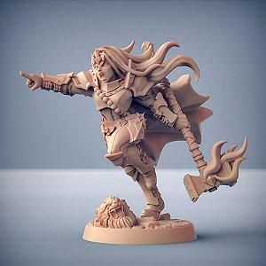 MORGANA, A ASCENDENTE (Heroína) - Guilda dos Guerreiros - Miniatura Artisan Guild