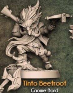 TINTO BEETROOT - Conto da Espada Curta - Miniatura Artisan Guild