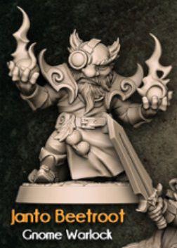 JANTO BEETROOT - Conto da Espada Curta - Miniatura Artisan Guild