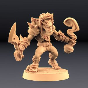 """GOBLIN """"A"""" - Goblins do clã Sparksoot - Miniatura Artisan Guild"""