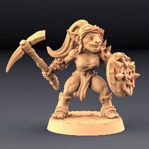 """GOBLIN """"E"""" - Goblins do clã Sparksoot - Miniatura Artisan Guild"""