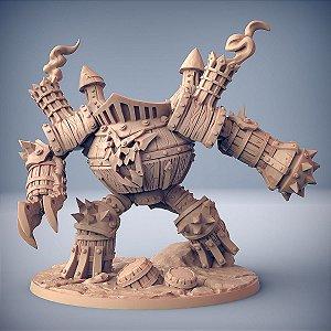 GOLEM DE SUCATA - Goblins do clã Sparksoot - Miniatura Artisan Guild