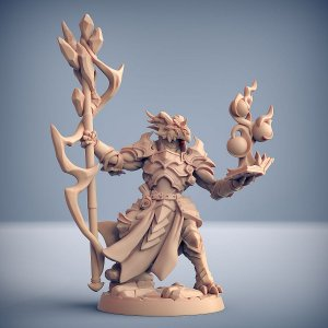 Scramax, o Mago de Batalha - Guarda Dracônica - Miniatura Artisan Guild