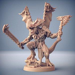 Xol'toa - Lagartos da Mandíbula Dourada - Miniatura Artisan Guild