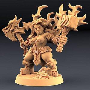 Helga Windfury - Perjuradores Anões - Miniatura Artisan Guild