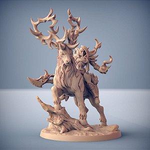 Endelshar e Rei da Floresta - Elfos da Mata Profunda - Miniatura Artisan Guild