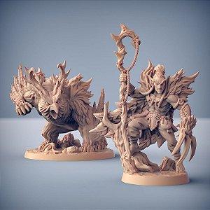 Uldar, Metamorfo + Besta Druídica - Elfos da Mata Profunda - Miniatura Artisan Guild