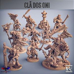 Clã dos Oni - Coleção Completa - Miniatura Artisan Guild