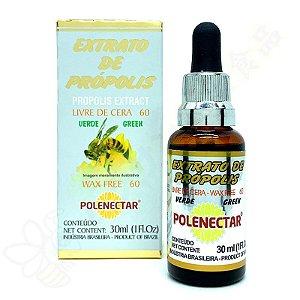 Extrato de Própolis Verde Wax Free 60 30ml - Polenéctar