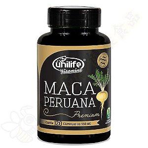 Maca Peruana Premium 100% em cápsulas c/120 - Unilife